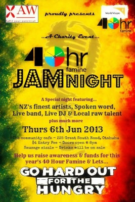 Otahuhu Community Cafe 40hr Famine Jam Night