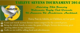 Tailevu Sevens Tournament 2014