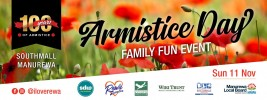 100 years – Armistice Day Family Fun Event – November 11th