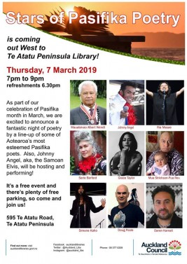 Stars of Pasifika Poetry – 7 March 2019